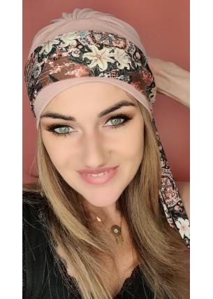 Turban różowy