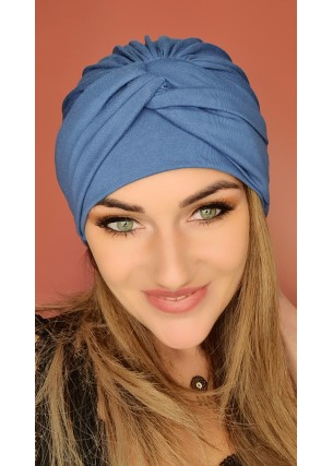 Turban niebieski