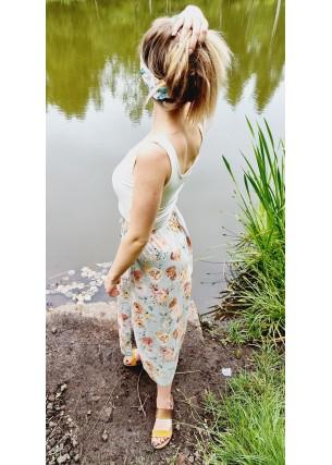 Spódnica wiskozowa błękit