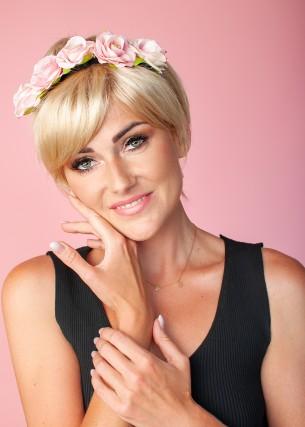 Peruka Klaudia jasny blond