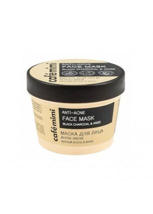 Cafe Mimi Maska do twarzy anti-acne - czarny węgiel i anyż, 110 ml