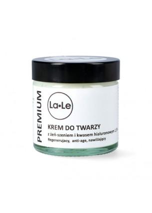 La-Le Kosmetyki Krem do twarzy z żeń-szeniem i kwasem hialuronowym, 60 ml